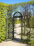 Beautiful trees and gate Royalty Free Stock Photography