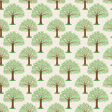 Beautiful trees with green leaves. Pattern for seamless background beautiful trees with green leaves Stock Image
