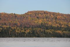 Beautiful trees Rainbow, Tadoussac Quebec Royalty Free Stock Images