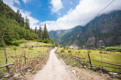 Beautiful trekking scenery Stock Image