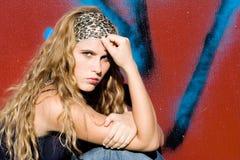 Beautiful trendy teenager. Beautiful young woman, trendy teenager Stock Photography