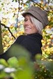 Pretty blond autumn portrait Stock Images