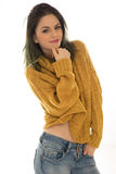 Beautiful trendy young brunette Royalty Free Stock Photos