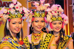 Borneo Tribal Girls royalty free stock photos
