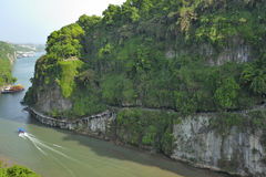 Beautiful tributary of Yangtze River Royalty Free Stock Images