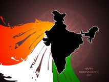 Beautiful tricolor Indian flag theme background de Stock Photo