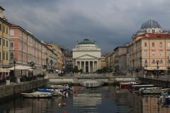 Beautiful Trieste, Italy. Cityscape and view of Triest, Italy Royalty Free Stock Photos