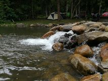 Camping life of Beautiful trip  in Thailand Nation park Royalty Free Stock Image