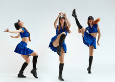 Beautiful Triplets dancers Royalty Free Stock Images