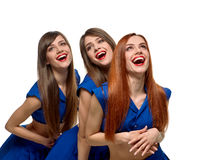 Beautiful triplets sisters Royalty Free Stock Photo