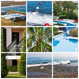 Beautiful tropic lifestyle collage Royalty Free Stock Photo