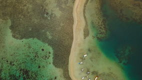 Beautiful tropical beach, aerial view. Tropical island. stock video footage