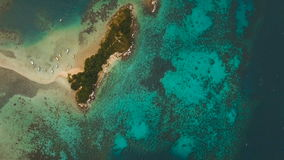 Beautiful tropical beach, aerial view. Tropical island. stock video