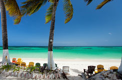 Beautiful tropical beach at Caribbean Royalty Free Stock Photo