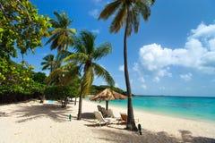 Beautiful tropical beach at Caribbean Stock Photo