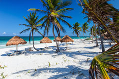 Beautiful tropical beach at Caribbean Royalty Free Stock Photos