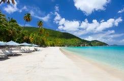 Beautiful tropical beach at Caribbean Stock Images