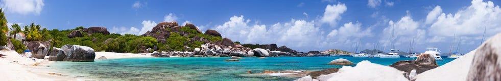 Beautiful tropical beach at Caribbean Royalty Free Stock Photos