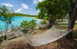 Beautiful tropical beach at Caribbean Stock Photography