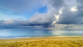 Beach Timelapse. A time lapse of clouds moving across the sky. Early morning on a beautiful, tropical beach in Thailand stock video footage