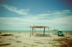Beautiful tropical beach in the coast of ecuador Royalty Free Stock Photography