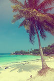 Beautiful tropical beach with coconut palm Royalty Free Stock Photo