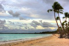 Beautiful tropical beach Dominican Republic Royalty Free Stock Photos