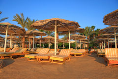 Beautiful tropical beach early morning. Royalty Free Stock Photos