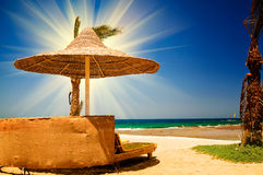 Beautiful tropical beach in the Egypt. Royalty Free Stock Images