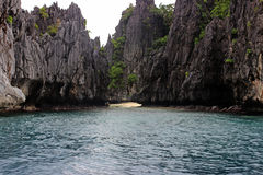 Beautiful tropical beach - El Nido, Philippines royalty free stock image