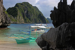 Beautiful tropical beach - El Nido, Philippines Stock Photos