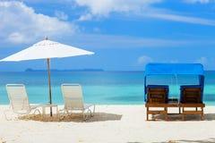 Beautiful tropical beach at exotic island Stock Photos