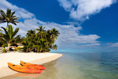Beautiful tropical beach at exotic island in Pacific Stock Image
