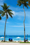 Beautiful tropical beach at exotic island Royalty Free Stock Photo
