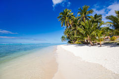 Beautiful tropical beach at exotic island in South Pacific Royalty Free Stock Photography