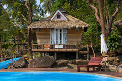 Beautiful tropical beach house in Thailand . Stock Images