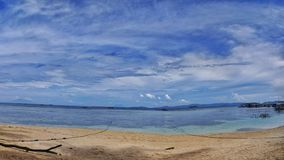 Beautiful tropical beach in Indonesia stock photography