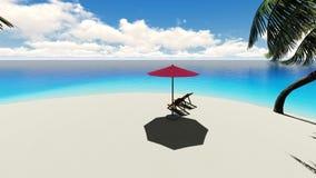 Beautiful tropical beach island stock illustration