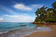 Beautiful tropical beach. On the island with waves, Phuket, Thailand Stock Image