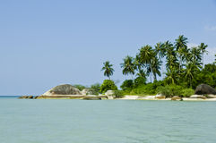 Beautiful tropical beach on Ko Pha Ngan Royalty Free Stock Photography