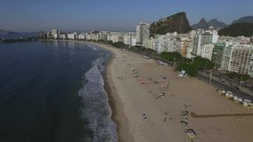 Beautiful Tropical Beach Landscape, Luxury Buildings in Copacabana Beach. Wonderful city to visit. stock footage