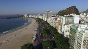 Beautiful Tropical Beach Landscape, Luxury Buildings in Copacabana Beach. Wonderful city to visit. stock video footage