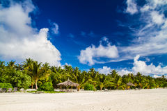 Beautiful tropical beach landscape in Maldives Royalty Free Stock Photography