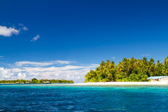 Beautiful tropical beach landscape in Maldives Stock Image