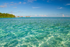 Beautiful tropical beach landscape in Maldives Royalty Free Stock Photos