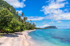 Beautiful Tropical Beach. Beautiful landscape of Tropical Beach with remote island Royalty Free Stock Images