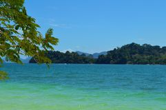 Beautiful tropical beach, Langkawi, Malaysia. stock photos