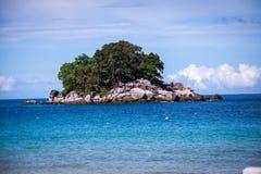 Beautiful tropical beach with lush vegetation Royalty Free Stock Photos