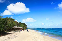Beautiful tropical  beach Maguana , Cuba Stock Images