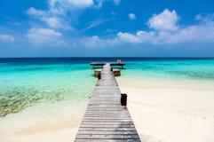 Beautiful tropical beach at Maldives Stock Images